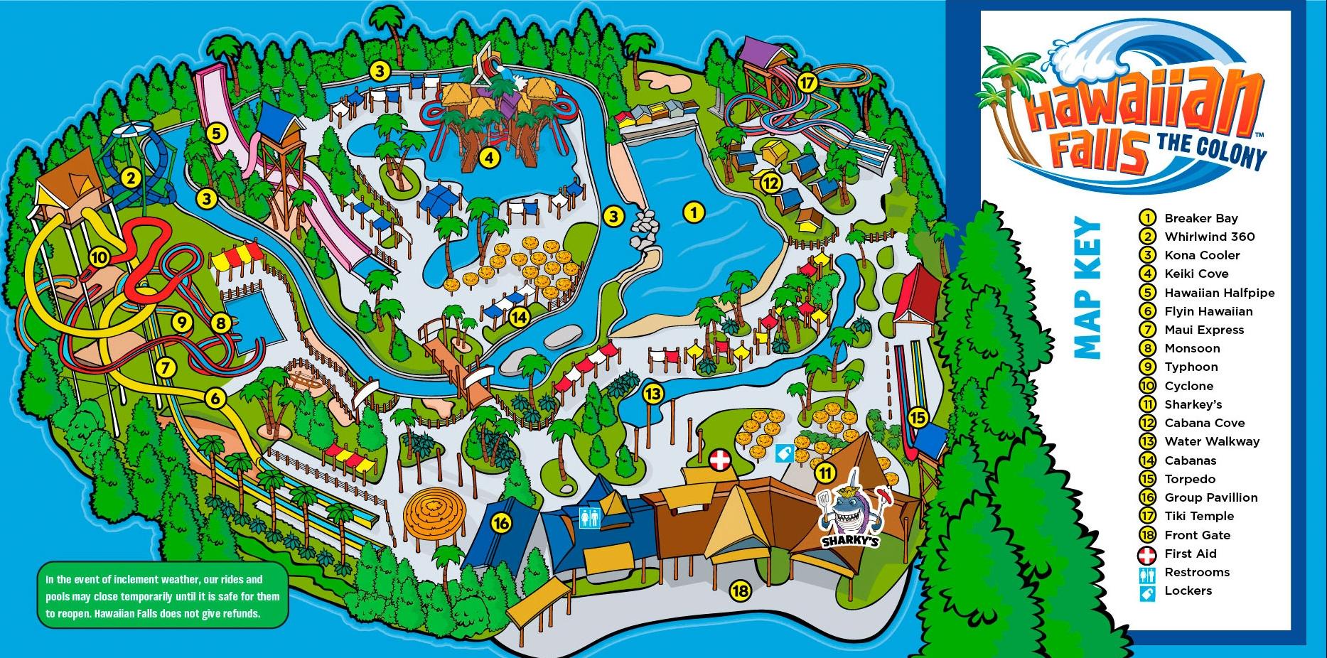 Park Map — Hawaiian Falls
